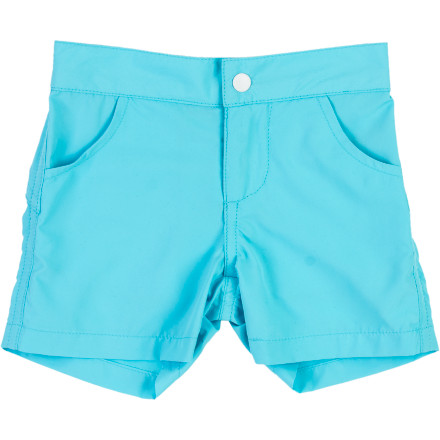 The smooth, light, and long A For Apple Infant Boys' Marcel Short gives him style aplenty and comfy coverage. Let him kick, squirm, and crawl in carefree comfort and sporty big-boy looks. - $37.95