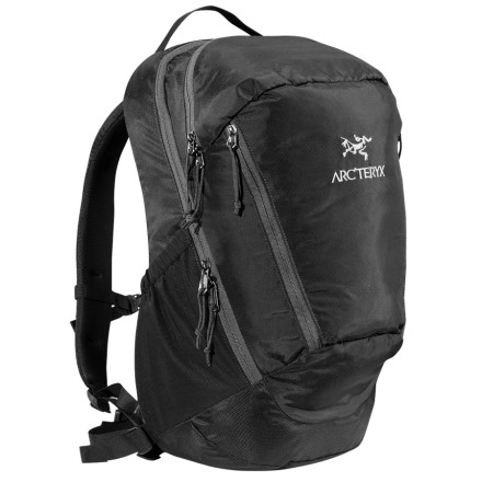 Camp and Hike High-end fabrics and a large main compartment make the Arc'teryx Mantis 26 Daypack a stellar choice for daily commutes or traveling. It fits 17-inch laptops and all your other work-related items in its main and three other zippered pockets, and it is also hydration compatible for longer treks through the cityscape. - $124.95