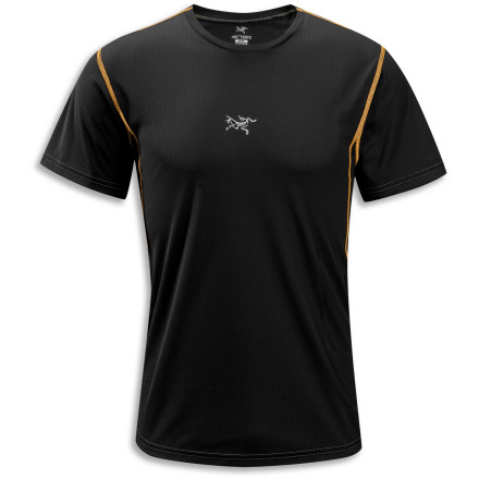 When you put on the Arc'teryx Men's Velox Crew Neck Short-Sleeve Shirt, you mean business. This shirt works hard to keep you cool and comfortable so you can work hard on covering ground. - $58.95