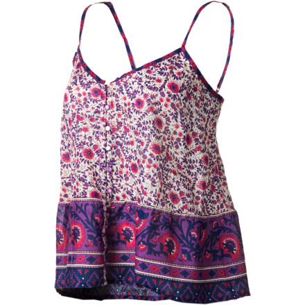 Surf Record-breaking heat is in store for the weekend, so make sure that your Billabong Women's Tallows Cami Tank Top isn't sitting in the laundry pile. You'll want to be able to enjoy its cool, airy comfort and its retro-hippie design that goes so well with your shortest cutoffs. - $33.95