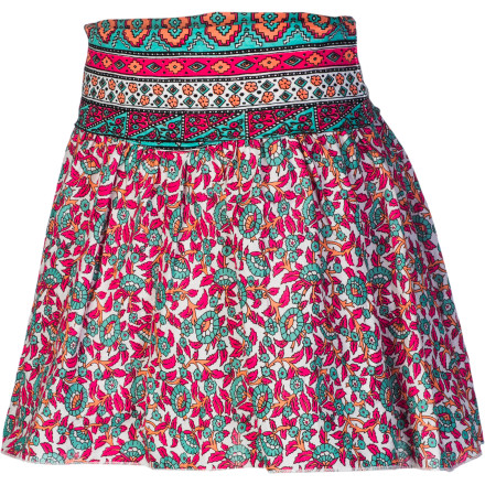 Surf School days, picnics, after-beach trips to the ice cream shop: these occasions and many more call for the Billabong Girls' Wandered Skirt. Wherever your girl is going, this comfy pull-on skirt leads the way with fun bohemian style. - $27.16