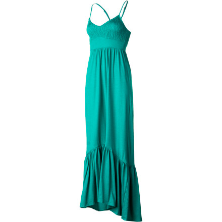 Surf After a refreshing shower, slip on the Billabong Women's Faster Maxi Dress and a pair of strappy sandals and take a stroll down the boardwalk for some pizza and cool beverages. - $55.95
