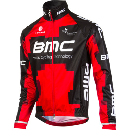 Fitness Whether it was to prepare for the Classics, or simply because of unavoidable circumstances, it's safe to say that the BMC Racing Team trained in poor weather last year. And when they did, chances are that they packed the BMC Windtex Jacket along for the ride. We're offering that same jacket team-issued jacket. So, you can experience the same reliable, comfortable protection from the elements while displaying your BMC allegiance at the same time. Windtex is a lightweight, wind- and water-resistant membrane that provides protection from the elements while allowing a high level of breathability. It also stretches to conform to the body's shape, facilitating a proper freedom of movement. These combined characteristics make the BMC Windtex Jacket an ideal choice for cool, wet, and windy days. It features elastic cuffs, a high collar, and an internal zipper flap to seal out the elements. Furthermore, it also has reflective accents in order to increase your visibility to motorists in low-light conditions. The BMC WindTex Jacket is available in one color and in four sizes from Small to X-Large. - $32.55