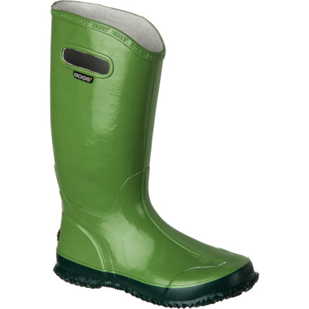 Even though it's raining cats and dogs, there are still places to go and people to see. Pull on the Bogs Women's Rainboot for complete puddle-jumper protection and a classic rainy-day look. The lightweight design is ideal for summer months, and the integrated handles make on and off a cinch. - $79.99