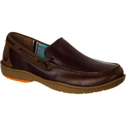 The Born Shoes Men's Crest Shoe takes a classic boat-shoe design and adds hand-sewn details to round up the style. The waterproof upper is durable and comfortable, and the whole shoe is meticulously hand-crafted for uncompromising quality. - $91.96