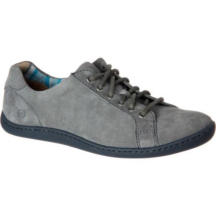 The Born Men's Sean Shoe took a smooth, soft suede upper and added a bit of two-tone pop with the outsole. Then it went two steps further with eye-pleasing plaid on the interior of the cuff and footbed. - $89.96