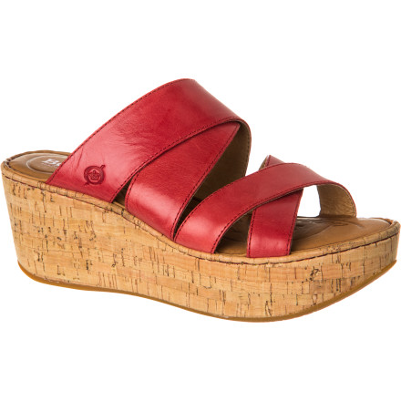 Surf While the Born Women's Kapiti Sandal does put you over two inches above your normal height, it's this shoe's meticulous handcrafted construction and full-grain leather straps that really boost you to the clouds. - $89.96
