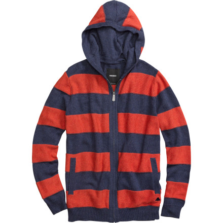 Snowboard After shredding, stay fresh off the hill with the Burton Carver Men's Sweater. It's made with a comfortable cotton and wool blend to keep you cozy on chilly evenings, and the alternating stripe weaves will help you stand out from the rest of the grungy boarder dudes at the bar. - $63.71