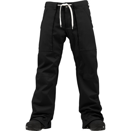 Snowboard Cruise the park in style in the Burton Southside Men's Snowboard Pant. The DryRide Durashell fabric keeps you from getting wet when you take a spill in the slush, and the Mid fit provides a slimmer look without being so tight that you can't fit stuff in your pockets or layer underneath on cold days. - $111.97