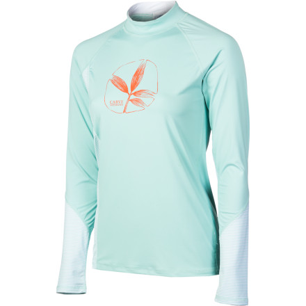 Surf Snorkel, SUP, and kayak with the Carve Designs Women's Sunblocker Rashguard. Equipped with UPF-50 rated fabric, the Sunblocker shields your body from the sun's harmful UV rays so you're not burned to a crisp after surfing or hanging out at the beach all day. - $47.95