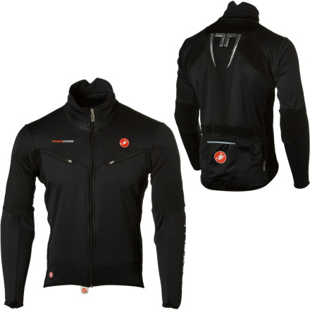 Fitness A little hypothermia wouldnt stop you from taking your bike out even if it is freezing outside, and fortunately you can go out in the cold and stay warm. Zip up in the Castelli Mens Mannaggia Jacket when you want to stay warm, but you arent willing to sacrifice your mobility. - $79.99