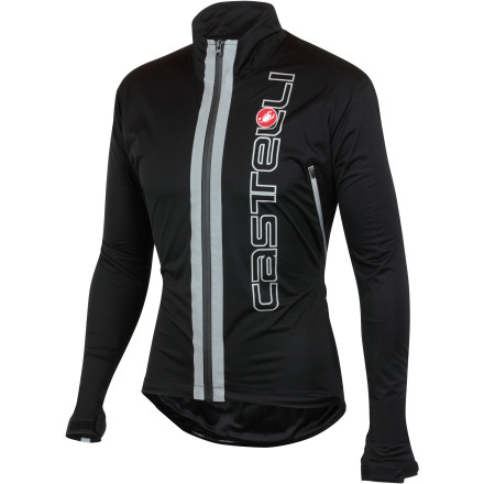 Fitness Let's face it, a dependable jacket makes the difference between sitting at home and riding your bike on a rainy day. However, while many jacket makers make claims of waterproofness and breathability, a select few actually exert the time and money to test these claims. Not surprisingly, Castelli is one of these rare breeds, and its new Confronto Jacket proves just what a little obsessive TLC will do. To make the Confronto jacket your go-to for wet weather riding, Castelli constructed it from the Torrent 2L fabric. This material is completely waterproof, wind-resistant, and highly breathable. And while we're always hesitant to support claims of waterproofness and breathability, this material has a water column rating of 10000mm and a Moisture Vapor Perspiration (MVP) of 8000. Additionally, Castelli has also taped the critical seams of the jacket, included at the high collar, and installed a waterproof zipper in order to keep water from trickling in unexpectedly. For breathability, Castelli placed two large ventilation ports on the rear portion of the jacket. Together, the fabric's attributes and characteristics provide a level of protection that keeps water from getting in, but rapidly assists its getting out. Just as importantly, Torrent 2L was selected for its high degree of stretch. As a result, the Confronto provides a hard-shell level of protection with the feel and freedom of movement of a softshell jacket. This clever system of protection also accentuates the purposeful cut and fit of the Confronto. Essentially, the jacket's shape has been cut to mirror the body in the cycling position. So, you'll notice that the back has been elongated with the sleeves. This way, the annoyance of fabric bunching and pulling has been eliminated while you're on the hoods or in the drops. Now, there's no chafing or seam abrasion, and Castelli even took the extra step of lining the jacket in breathable mesh in order to ensure this. - $104.96