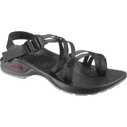 Surf Explore rocky banks of the river or dance in the grass at a summer festival while you're wearing the Chaco Women's Updraft X2 GenWeb Sandal. If you've never worn a Chaco sandal before, you're in for a treat; this sandal provides heavenly comfort and tons of support, and it was made specifically for life lived on the river or in the wild. Similar to the Updraft 2 in almost all aspects, the Updraft X2 uses dual-strap webbing that comfortably matches the contours of your foot in a way that a single strap can't. You still get the same, supportive midsole, grippy outsole, and big-toe toe loop, but with more comfort and a slightly different look. - $98.96