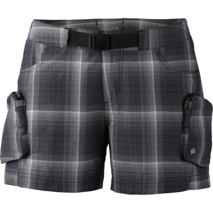 Camp and Hike Brook-crossing mishaps aren't a big deal when you're wearing the Columbia Women's Cross On Over Cargo Plaid Board Short on your hike. That's because this lightweight short, in addition to bringing sporty good looks to your outing, is made from Supplex nylon that dries quickly so you can get on with the fun. - $29.96