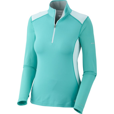 It may sound counter-intuitive, but pulling on the long-sleeve Columbia Women's Freeze Degree 1/2-Zip Shirt may be your best strategy for beating the heat on your summer runs. That's because rather than keeping you warm, this long-sleeved shirt helps cool you off by employing Columbia's advanced Omni-Freeze ZERO technology. And as it's cooling you off, it's also protecting you with UPF 50-rated Omni-Shade tech so you don't have to worry about sunscreen wearing off as you take that longer loop. - $56.21