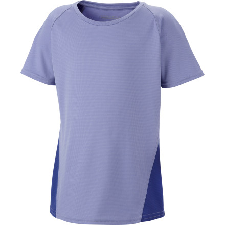 The Columbia Girls' Silver Ridge II T-Shirt gives dry, cool, protective comfort to your outdoor-loving girl. It wicks away sweat, breathes, and dries quickly with its Omni-Wick technology, and she can play at high noon with UPF 30 and still feel fresh with odor-fighting antimicrobial treatment. You may have to call her three times to come in for dinner, but you love that insatiable playful spirit, right' - $14.96