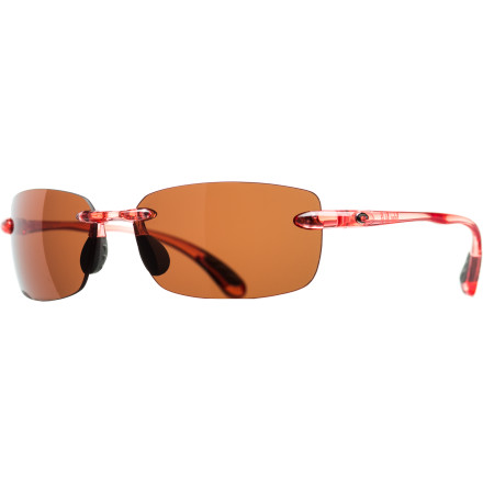 Camp and Hike Whether you're exploring the Spanish fort in old San Juan or pushing off with a chartered sport fishing boat, make sure you don't miss a single detail with the Costa Del Mar Ballast Polarized Sunglasses. The rimless design combines with the scratch-resistant 580P lenses to provide an unobstructed field of vision that is free of glare both on and off the water. - $158.95