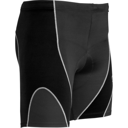Fitness CW-X created the Men's Tri-Short to provide targeted muscle support for triathlon training and racing. Flat seams and smooth nylon make this short feel smooth on the outside while Lycra banding offers light compressive support that aids muscle recovery and reduces fatigue. And to truly entice the three-sport athlete, CW-X added a lightweight chamois that helps take the bite out of your saddle so you can really crush the bike stage. - $69.95