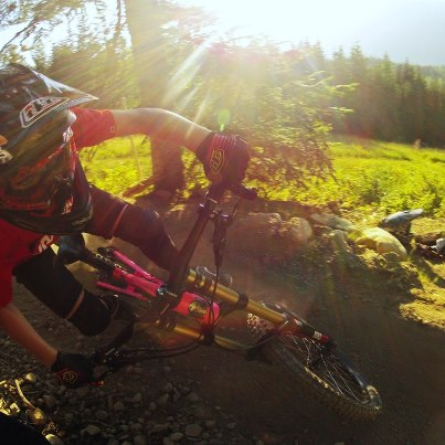 MTB GoPro athlete Holly Feniak sendin' it off at Crankworx 2012