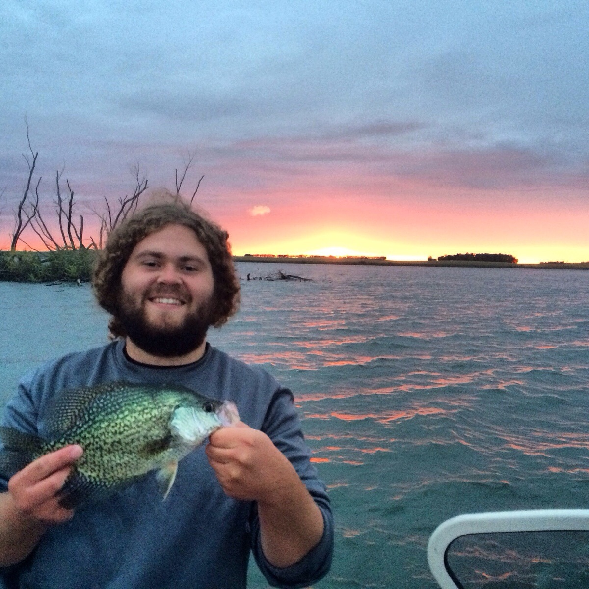 Caught my pr crappie last night after the rain thrill on for Crappie fishing at night
