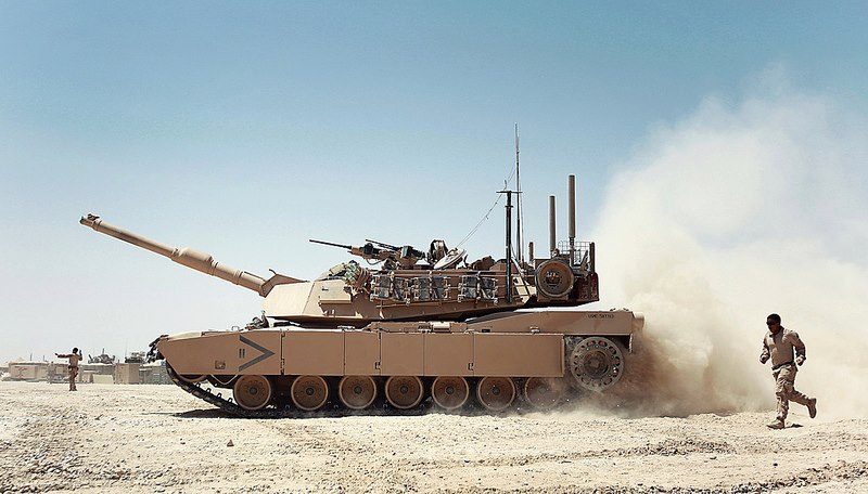 Guns and Military A Marine Corps M1A1 Abrams tank refuels at a combat outpost in Helmand province, Afghanistan.
