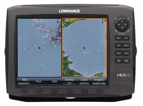 Fishing Lowrance HDS Gen 2 family This illustrates Lake Insight on an HDS 10 unit.