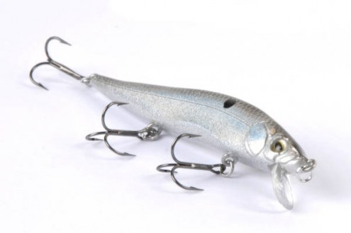 "Fishing  Luck ""E"" Strike RC STX Mini The RC STX jerkbait just got ""minnowfied"" — the smaller version retains the features of the larger RC STX, but in a 3 1/2-inch package. The color of the pictured bait is also new, it's called black diamond. An internal weight"
