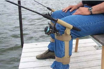 Fishing Knee Jerk hook Set - fishing jeans rod holder (frees your hands for a cold beer)