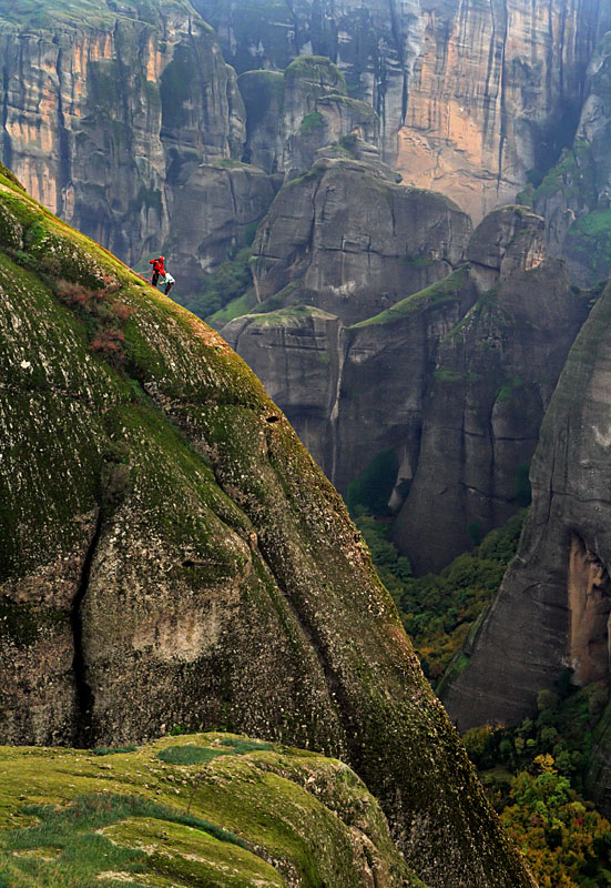 Climbing Climbers of the holy rocks - Meteora, Trikala