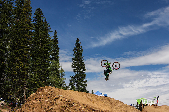 MTB Backflip off the hip jump.