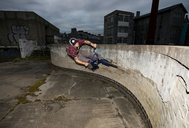 BMX Curved Wallride
