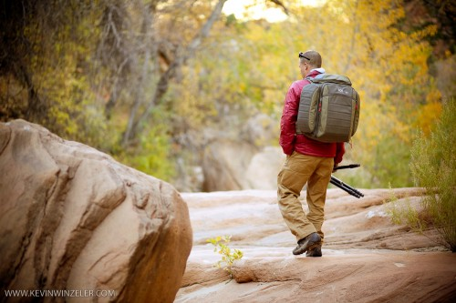 Camp and Hike Mountain Khakis Rock in Zion National Park