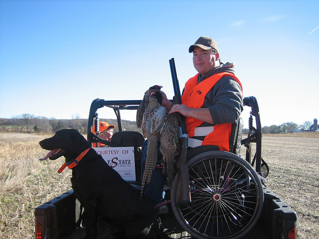 Hunting Steve Lang hunts pheasants at Smith's Pheasant Crest Hunting Preserve