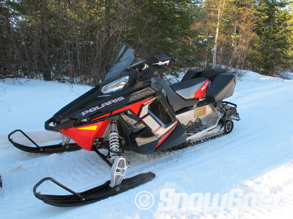 Snowmobile Polaris 600 Switchback Adventure. This was one surprising snowmobile!