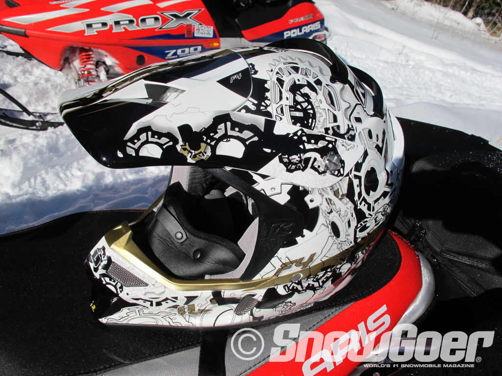 Snowmobile  F4 is the most-ventilated helmet on the market