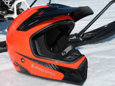 Snowmobile Lite-Brite: The BRP XP-R Carbon Light Blaze snowmobile helmet is super light and really bright.