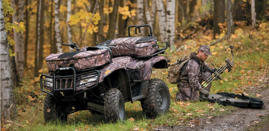Hunting Get deep into the woods with an Arctic Cat ATV