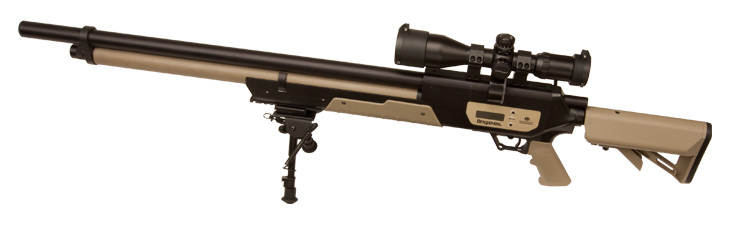 Hunting .357 CALIBER, MULTI-SHOT, COMPRESSED AIR, ULTRA-QUIET, HUNTING RIFLE