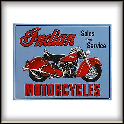 Auto and Cycle INDIAN SALES SERVICE TIN   $15.00
