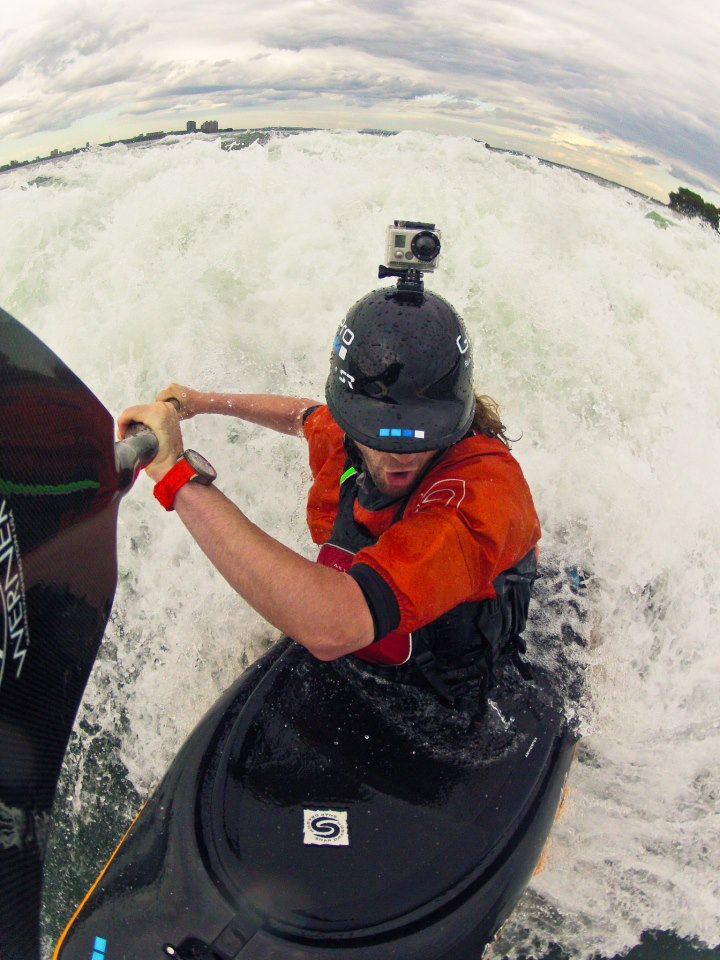 Kayak and Canoe GoPro athlete Shon Bollock getting the shot with his paddle mounted HD HERO2 camera in Canada!