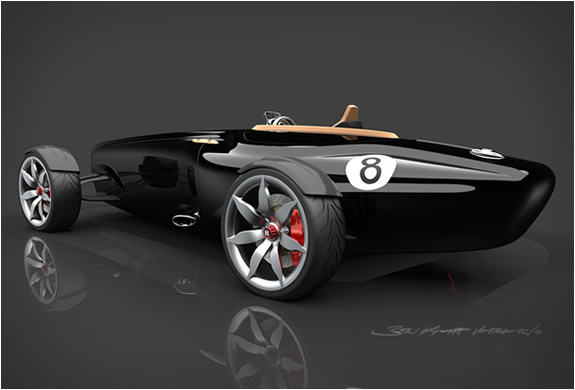 Auto and Cycle  Bentley Barnato Roadster was designed by Ben Knapp Voith while attending an 8-month design internship at Bentley
