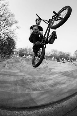 BMX relaxed in flight