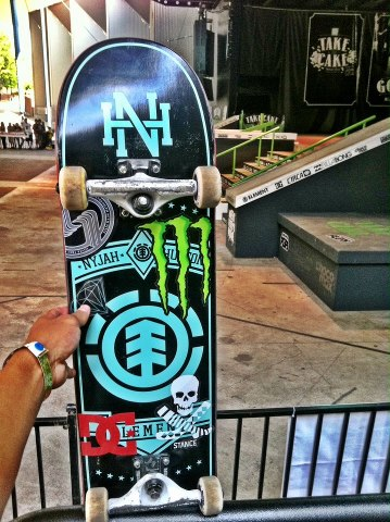Skateboard Nyjah Huston
