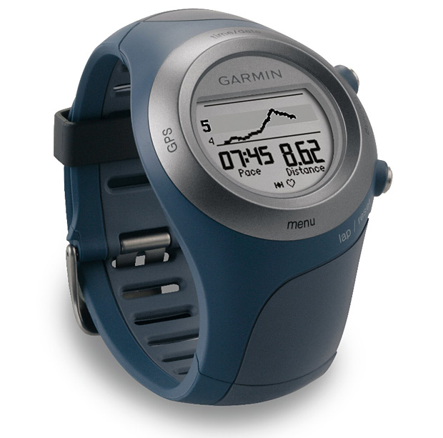 Fitness Garmin Forerunner 405CX GPS - collects and transmits location, heart rate, calories burned, pace and distance   $370