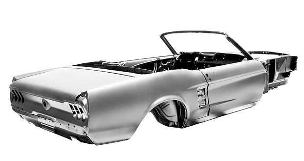 Auto and Cycle Ford-Licensed 1967 Mustang Convertible Body Shell   $15,995