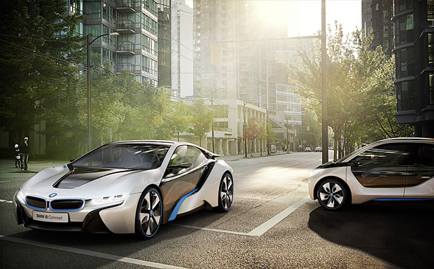 Auto and Cycle 2013 BMW i3 and 2014 BMW i8 - 78 mpg never looked so good
