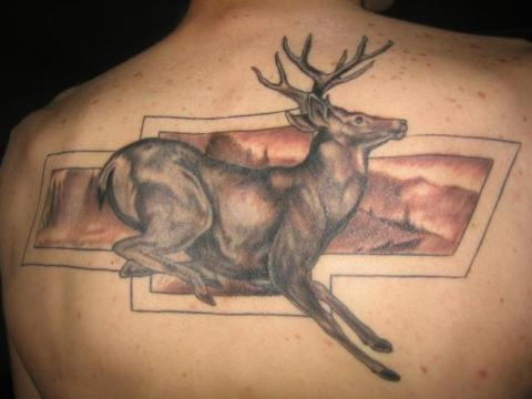 Hunting Mule Deer Tattoo