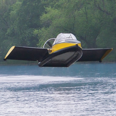 Auto and Cycle The Flying Hovercraft can cruise at 70 mph and go about 20 feet high   $190K