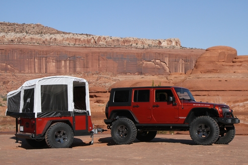Camp and Hike Jeep and Mopar are the first in the industry to offer off-road camper trailers   $9995