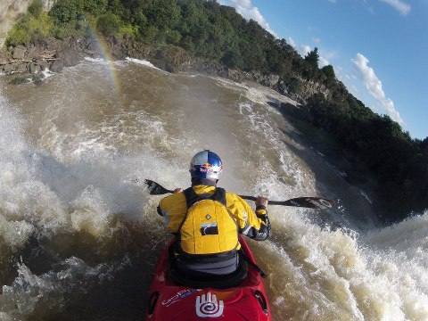 Kayak and Canoe GoPro paddling legend Ben Brown finds the pot of gold at Wairua Falls in New Zealand!